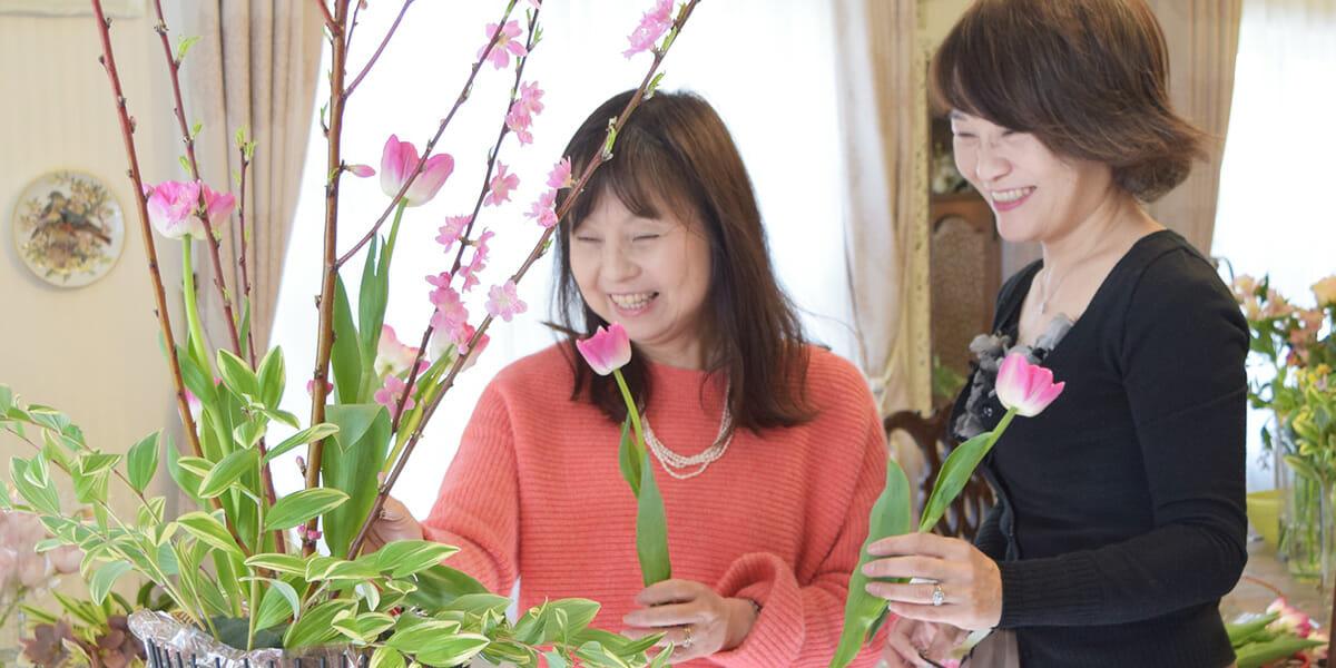 スタンド花の制作レッスン