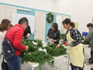 【姫路】姫路駅前ガーデンクリスマス2018に向けてのリース作り