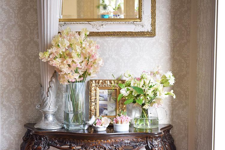玄関にお花を飾ろう