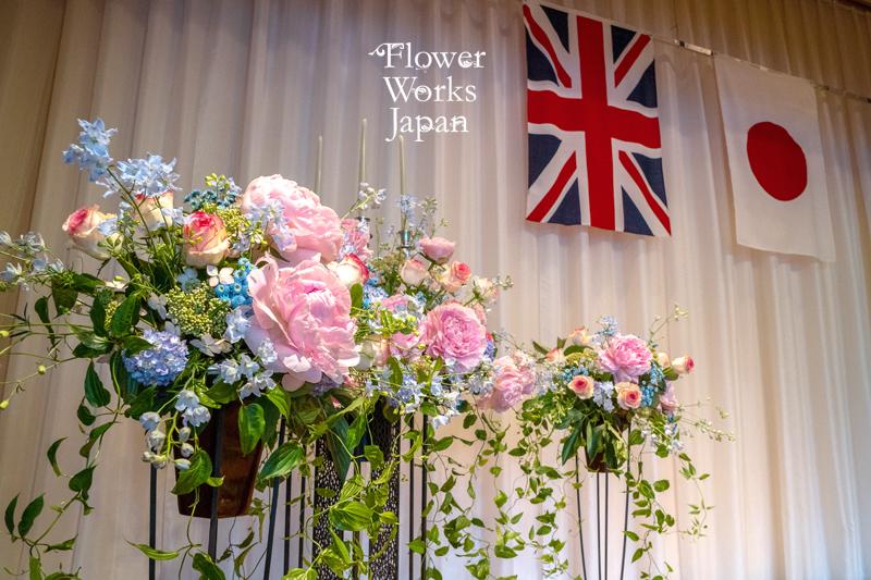【神戸倶楽部】エリザベス女王陛下誕生パーティー会場装花 2019