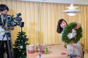 アトリエチアーの教室でチームベイコム「クリスマスデートプラン」のロケが行われました