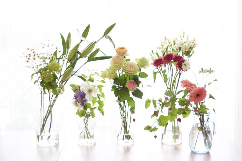 【お花の基礎】切り花を長もちさせるコツ-水揚げの方法